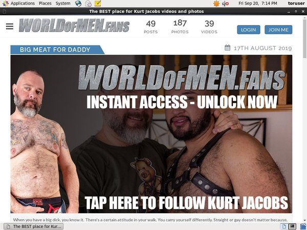 Active Kurtjacobs.worldofmen.fans Passwords